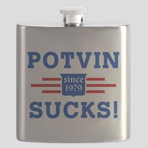 Potvin Sucks since 79 outline 4 drk Flask